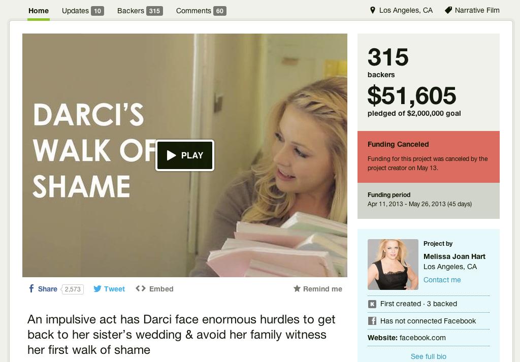 Melissa Joan Hart's Campaign on Kickstarter